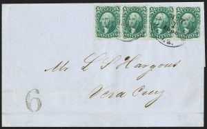 Sale Number 1215, Lot Number 2281, 1857-60 Issue10c Green, Ty. III (33), 10c Green, Ty. III (33)