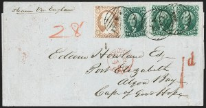 Sale Number 1215, Lot Number 2284, 1857-60 Issue10c Green, Ty. V (35), 10c Green, Ty. V (35)