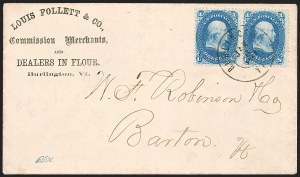 Sale Number 1215, Lot Number 2289, 1861-68 Issues: Domestic Uses1c Blue (63), 1c Blue (63)