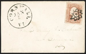 Sale Number 1215, Lot Number 2295, 1861-68 Issues: Domestic Uses3c Rose (65), 3c Rose (65)