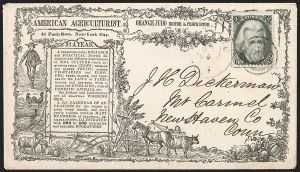 Sale Number 1215, Lot Number 2299, 1861-68 Issues: Domestic Uses2c Black (73), 2c Black (73)