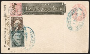 Sale Number 1215, Lot Number 2301, 1861-68 Issues: Foreign Destinations2c Black (73), 2c Black (73)