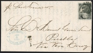 Sale Number 1215, Lot Number 2305, 1861-68 Issues: Foreign Destinations2c Black (73), 2c Black (73)