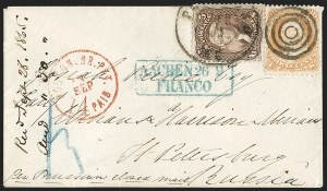 Sale Number 1215, Lot Number 2316, 1861-68 Issues: Foreign Destinations30c Orange (71), 30c Orange (71)