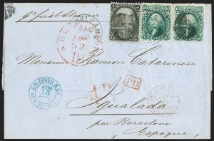 Sale Number 1215, Lot Number 2322, 1861-68 Issues: Foreign Destinations2c Black (73), 2c Black (73)