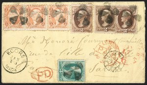 Sale Number 1215, Lot Number 2351, 1870-88 Bank Note Issues2c Red Brown, 3c Green (146, 147), 2c Red Brown, 3c Green (146, 147)