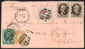 Sale Number 1215, Lot Number 2360, 1870-88 Bank Note Issues6c Dull Pink (159), 6c Dull Pink (159)