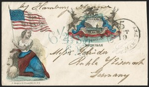 Sale Number 1215, Lot Number 2490, Civil War: Union Patriotics, Foreign DestinationsMichigan, Michigan