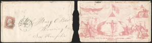Sale Number 1215, Lot Number 2495, Civil War: Union Patriotics, Lincoln and Caricatures3c Rose (65), 3c Rose (65)