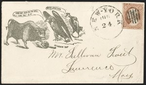 Sale Number 1215, Lot Number 2498, Civil War: Union Patriotics, Lincoln and Caricatures3c Dull Red, Ty. III (26), 3c Dull Red, Ty. III (26)