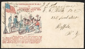 Sale Number 1215, Lot Number 2510, Civil War: Union Patriotics, Lincoln and CaricaturesContraband of War; Or Volunteer Sappers And Miners From the F.F.V, Contraband of War; Or Volunteer Sappers And Miners From the F.F.V