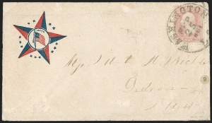 Sale Number 1215, Lot Number 2525, Civil War: Union Patriotics, Other Subjects3c Pink (64), 3c Pink (64)