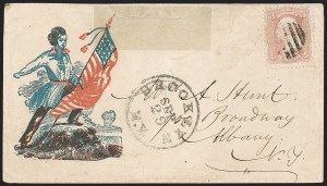 Sale Number 1215, Lot Number 2530, Civil War: Union Patriotics, Other Subjects3c Pink (64), 3c Pink (64)