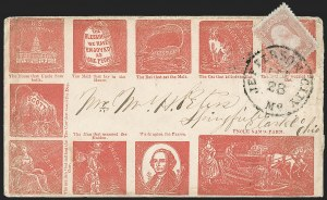 Sale Number 1215, Lot Number 2532, Civil War: Union Patriotics, Other Subjects3c Rose (65), 3c Rose (65)