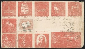 Sale Number 1215, Lot Number 2533, Civil War: Union Patriotics, Other Subjects3c Rose (65), 3c Rose (65)