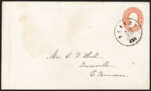 Sale Number 1215, Lot Number 2543, Confederate States: Lee Signed Cover, U.S. Postage in ConfederacySearcy Ark. May 20 (1861), Searcy Ark. May 20 (1861)