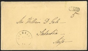 Sale Number 1215, Lot Number 2563, Confederate States: Handstamped Paid and DueColumbus Ky. Dec. ? (1861), Columbus Ky. Dec. ? (1861)
