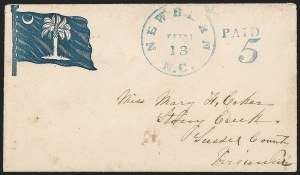 Sale Number 1215, Lot Number 2564, Confederate States: Handstamped Paid and DueNewbern, N.C. Jun. 13 (1861), Newbern, N.C. Jun. 13 (1861)