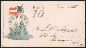 Sale Number 1215, Lot Number 2565, Confederate States: Handstamped Paid and DueWinchester Va. Jul. 14 (1861), Winchester Va. Jul. 14 (1861)