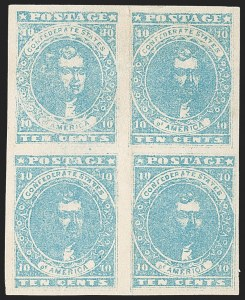 Sale Number 1215, Lot Number 2567, Confederate States: General Issues Off Cover10c Light Blue, Paterson (2a), 10c Light Blue, Paterson (2a)