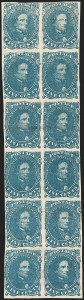 Sale Number 1215, Lot Number 2571, Confederate States: General Issues Off Cover5c Dark Blue, Stone 3, Narrow Gutter Between (4a var), 5c Dark Blue, Stone 3, Narrow Gutter Between (4a var)