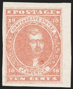 Sale Number 1215, Lot Number 2572, Confederate States: General Issues Off Cover10c Rose (5), 10c Rose (5)