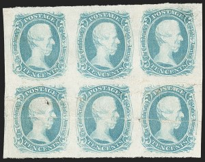 "Sale Number 1215, Lot Number 2576, Confederate States: General Issues Off Cover10c Blue, ""TEN"" (9), 10c Blue, ""TEN"" (9)"