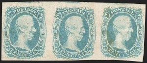 "Sale Number 1215, Lot Number 2577, Confederate States: General Issues Off Cover10c Blue, ""TEN"" (9), 10c Blue, ""TEN"" (9)"