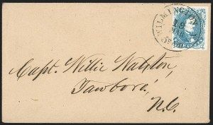 Sale Number 1215, Lot Number 2584, Confederate States: General Issues On Cover5c Blue, Stone 2 (4), 5c Blue, Stone 2 (4)