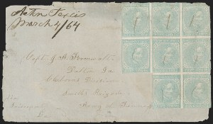 Sale Number 1215, Lot Number 2586, Confederate States: General Issues On Cover5c Blue, Local (7), 5c Blue, Local (7)