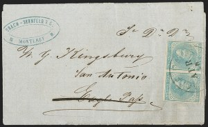 Sale Number 1215, Lot Number 2589, Confederate States: General Issues On Cover5c Blue, Local (7), 5c Blue, Local (7)