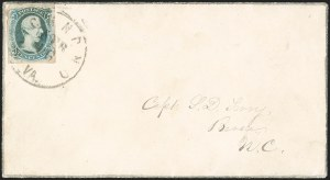 "Sale Number 1215, Lot Number 2591, Confederate States: General Issues On Cover10c Blue, ""TEN"" (9), 10c Blue, ""TEN"" (9)"