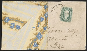 Sale Number 1215, Lot Number 2593, Confederate States: General Issues On Cover10c Blue, Die A (11), 10c Blue, Die A (11)