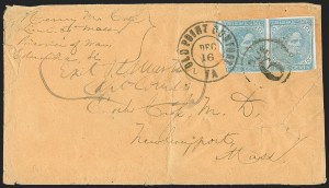 Sale Number 1215, Lot Number 2602, Confederate States: Prisoner-of-War Mail5c Blue, Local (7), 5c Blue, Local (7)