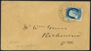 Sale Number 1216, Lot Number 109, 1c 1857 Perforated Issue: Plate 41c Blue, Ty. II (20), 1c Blue, Ty. II (20)