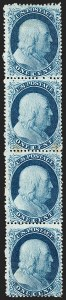 Sale Number 1216, Lot Number 110, 1c 1857 Perforated Issue: Plate 41c Blue, Ty. III/III/IIIa/IIIa (21/21/22/22), 1c Blue, Ty. III/III/IIIa/IIIa (21/21/22/22)