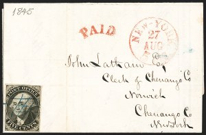 Sale Number 1216, Lot Number 16, Postmasters' Provisionals: New York N.Y. thru St. Louis Mo.New York N.Y., 5c Black, Without Signature (9X1e), New York N.Y., 5c Black, Without Signature (9X1e)
