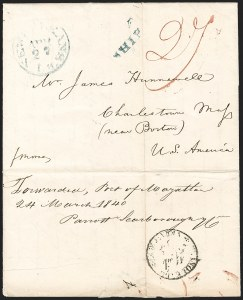 Sale Number 1216, Lot Number 217, Hawaii: Stampless Covers and Missionary Issues,