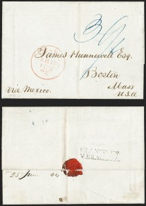 Sale Number 1216, Lot Number 218, Hawaii: Stampless Covers and Missionary Issues,