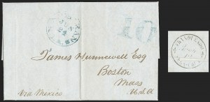 Sale Number 1216, Lot Number 219, Hawaii: Stampless Covers and Missionary Issues,