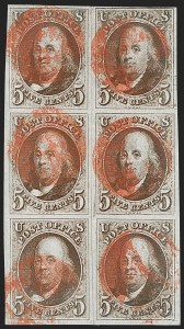 Sale Number 1216, Lot Number 32, 5c-10c 1847 Issue5c Red Brown (1), 5c Red Brown (1)