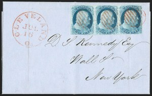 Sale Number 1216, Lot Number 40, 1c 1851 Imperforate Issue: Plates 1 Early, 1 Late1c Blue, Ty. II (7), 1c Blue, Ty. II (7)
