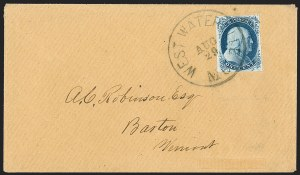 Sale Number 1216, Lot Number 76, 1c 1851 Imperforate Issue: Plate 41c Blue, Ty. II, Plate 4 (7), 1c Blue, Ty. II, Plate 4 (7)
