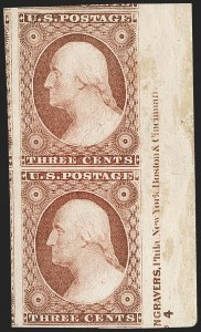 Sale Number 1216, Lot Number 87, 3c-10c 1851 Imperforate Issue3c Dull Red, Ty. I (11), 3c Dull Red, Ty. I (11)