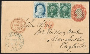 Sale Number 1216, Lot Number 95, 3c-10c 1851 Imperforate Issue10c Green, Ty. II (14), 10c Green, Ty. II (14)