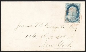 Sale Number 1216, Lot Number 96, 1c 1857 Perforated Issue: Plate 1 Late, Plate 21c Blue, Ty. IV (23), 1c Blue, Ty. IV (23)
