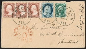 Sale Number 1216, Lot Number 97, 1c 1857 Perforated Issue: Plate 1 Late, Plate 21c Blue, Ty. IV (23), 1c Blue, Ty. IV (23)