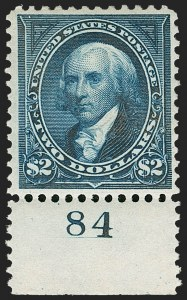 Sale Number 1217, Lot Number 1016, 1894-98 Bureau Issue (Scott 246-284)$2.00 Bright Blue (277), $2.00 Bright Blue (277)