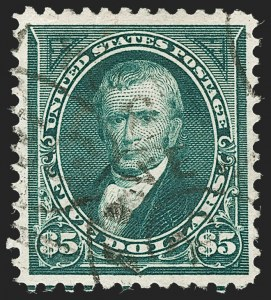 Sale Number 1217, Lot Number 1019, 1894-98 Bureau Issue (Scott 246-284)$5.00 Dark Green (278), $5.00 Dark Green (278)