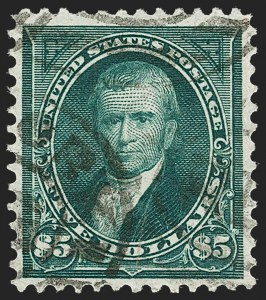 Sale Number 1217, Lot Number 1020, 1894-98 Bureau Issue (Scott 246-284)$5.00 Dark Green (278), $5.00 Dark Green (278)